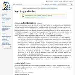 Kemi för grundskolan - Wikibooks