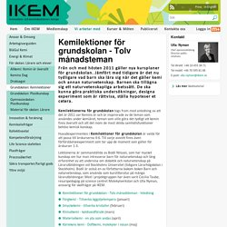Kemilektioner för grundskolan - Tolv månadsteman- IKEM