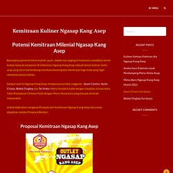 Kemitraan Kuliner Ngasap Kang Asep - Kuliner Serba Asap