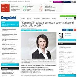 """""""Kenenkään saksaa puhuvan suomalaisen ei pitäisi olla työtön"""""""