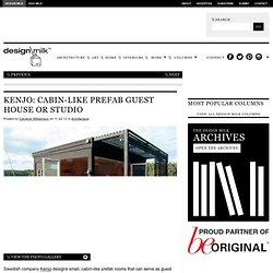 Kenjo: Cabin-Like Prefab Guest House or Studio