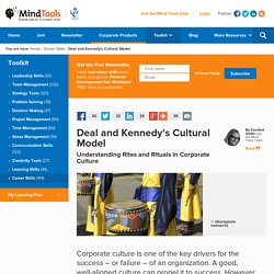 Deal and Kennedy's Cultural Model - from MindTools.com