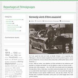 Kennedy vient d'être assassiné
