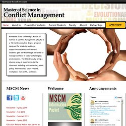 Kennesaw State University - Master of Science In Conflict Management