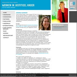 Kenniskring Andrea Donker - HOGESCHOOL UTRECHT - LECTORAAT WERKEN IN JUSTITIEEL KADER