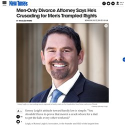 Kenny Leigh Says He Only Represents Men Because It's the Right Thing to Do