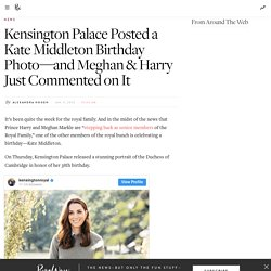 Kensington Palace Releases New Photo for Kate Middleton's 38th Birthday