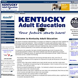Kentucky: Adult Education - Welcome