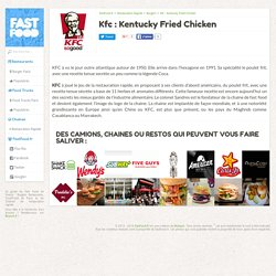 Kfc : Kentucky Fried Chicken - Chaîne de restauration rapide à Burger › FastFood.fr