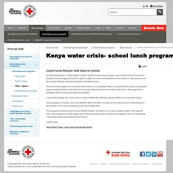 Kenya Water Crisis: School Lunch Program