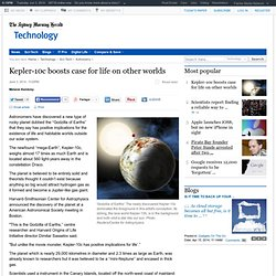 Kepler-10c boosts case for life on other worlds