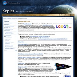 Kepler: Educator Web Links