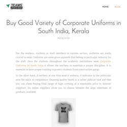 Corporate Uniforms In South India