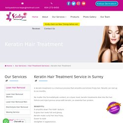 Get Outstanding Keratin Hair Treatment