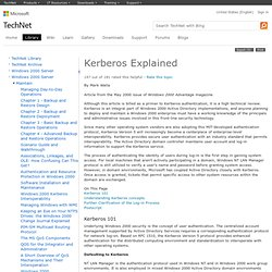 Kerberos Explained