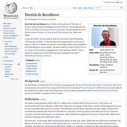 Derrick de Kerckhove