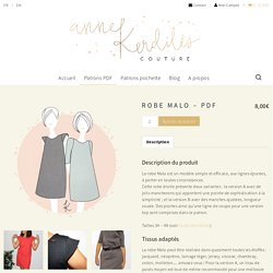 Robe Malo - PDF - Anne Kerdilès Couture - Patrons couture PDF et pochette
