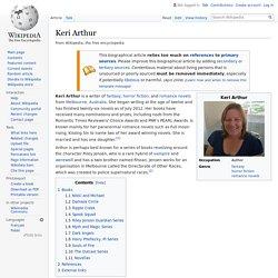Keri Arthur - Wikipedia