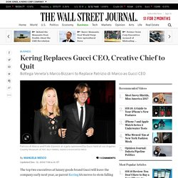 Kering Replaces Gucci CEO, Creative Chief to Quit