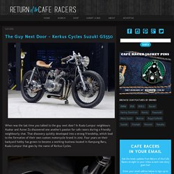 The Guy Next Door - Kerkus Cycles Suzuki GS550