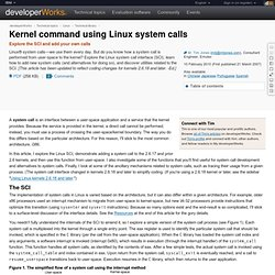 Kernel command using Linux system calls
