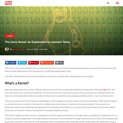 The Linux Kernel: An Explanation In Layman's Terms