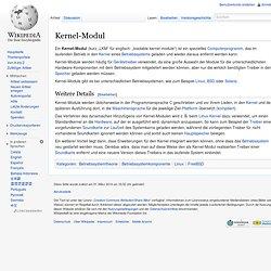 Kernel-Modul