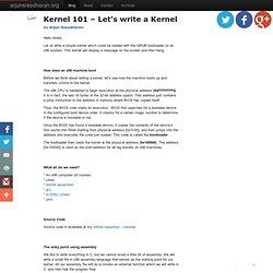 Kernel 101 – Let's write a Kernel - Arjun Sreedharan