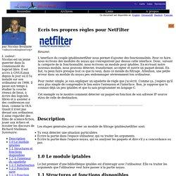 lf367, KernelCorner: Ecris tes propres règles pour NetFilter