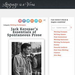 Jack Kerouac's Essentials of Spontaneous Prose