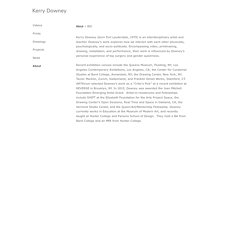Kerry Downey : About : BIO