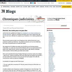 Kerviel, les mots pour ne pas dire - Chroniques judiciaires - Bl