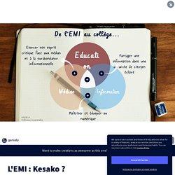L'EMI : Kesako ? by Madame Sevilla on Genially