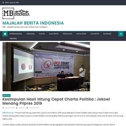 Kesimpulan Hasil Hitung Cepat Charta Politika : Jokowi Menang Pilpres 2019