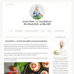 Kesoplättar - proteinrika plättar utan proteinpulver - Clean Eating by Annika
