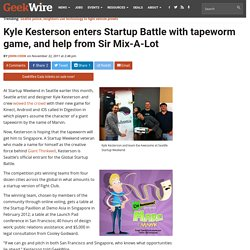 Kyle Kesterson enters Startup Battle with tapeworm game, and help from Sir Mix-A-Lot