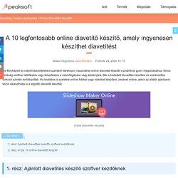 10 legjobb ingyenes diavetítés készítő, amelyek ingyen készíthetnek online diavetítéseket