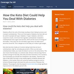 How the Keto Diet Could Help You Deal With Diabetes