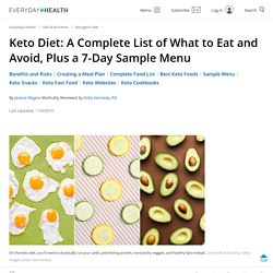 The Keto Diet: 7-Day Menu and Comprehensive Food List