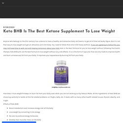 Keto BHB Is The Best Ketone Supplement To Lose Weight