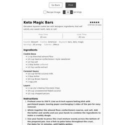 Keto Magic Bars - Keto Karma