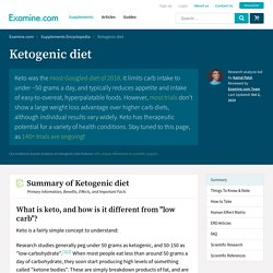 Ketogenic Diet - A review of the evidence on efficacy and safety