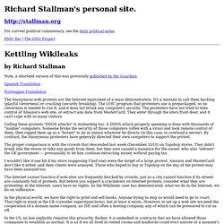 Kettling Wikileaks
