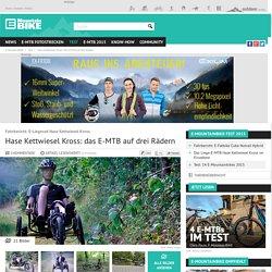 Hase Kettwiesel Kross: das E-MTB auf drei Rädern bei elektrobike-online.com