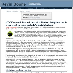 KBOX: Obsolete Overvie (Kevin Boone's Web site)