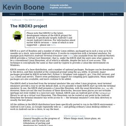 Kevin Boone's Web site