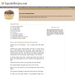 Key Lime Cupcake Recipe