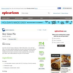 Key Lime Pie Recipe at Epicurious