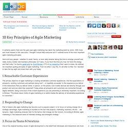 10 Key Principles of Agile Marketing
