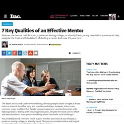7 Key Qualities of an Effective Mentor